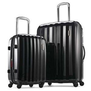 NEW Samsonite Prism 2-Piece Hardside Spinner (20/28) Luggage Set, Black, Checked  Large