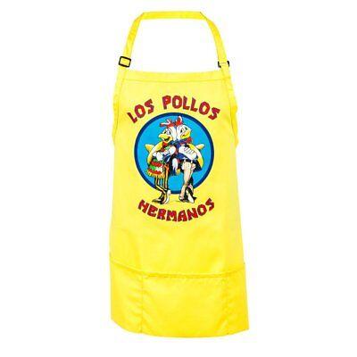 Breaking Bad TV Show grembiule Los Pollos Hermanos Yellow Costume Cooking Adult