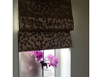 BRAND NEW: 6 x Bronze Roman blackout Blinds, lined and with fixings.