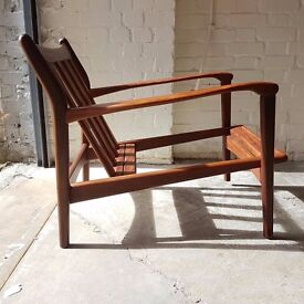 SOLD SOLD SOLD Toothill Mid Century Modern Afromosia Teak Armchair Frame Only in stock