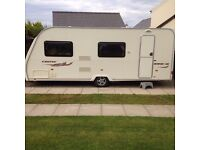 Avondale Dart 556 / 6berth 2008 single axel fixed bunk caravan with full awning.