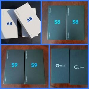 Brand New Samsung Galaxy A8 2018 ($475)/S8($575)/S9($750)/S9 Plus($900), LG-G7($675), Unlocked, Canadian!***