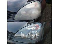 Headlights restoration. Clio,astra,vectra,golf,passat,bmw,mercedes,audi,honda,toyota,volvo,nissan,vw