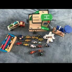 Large bundle wooden toys
