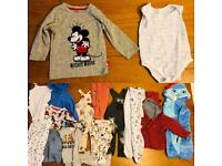 Baby boy bundle of 9-12 months clothes