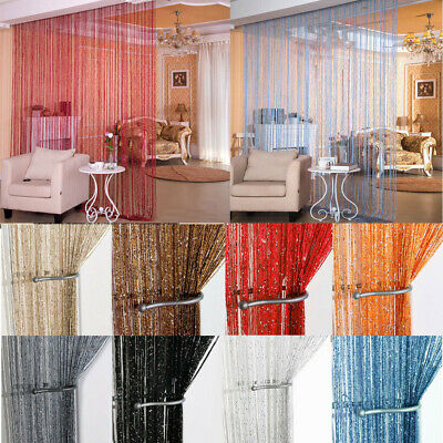 Beaded Door Curtains (Crystal String Door Curtain Beads Room Divider Window Panel Fringe Beaded)