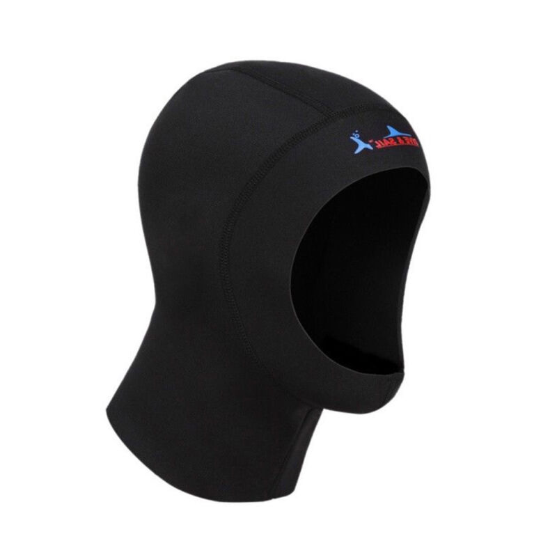 3mm Neoprene Scuba Diving Snorkeling Neck Hat Full Face Mask Warm Hood Cap S-XL