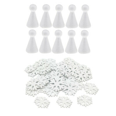 Snowflakes Wooden Foam Angel Ornaments For Christmas Tree Props Decorations](Foam Snowflakes)