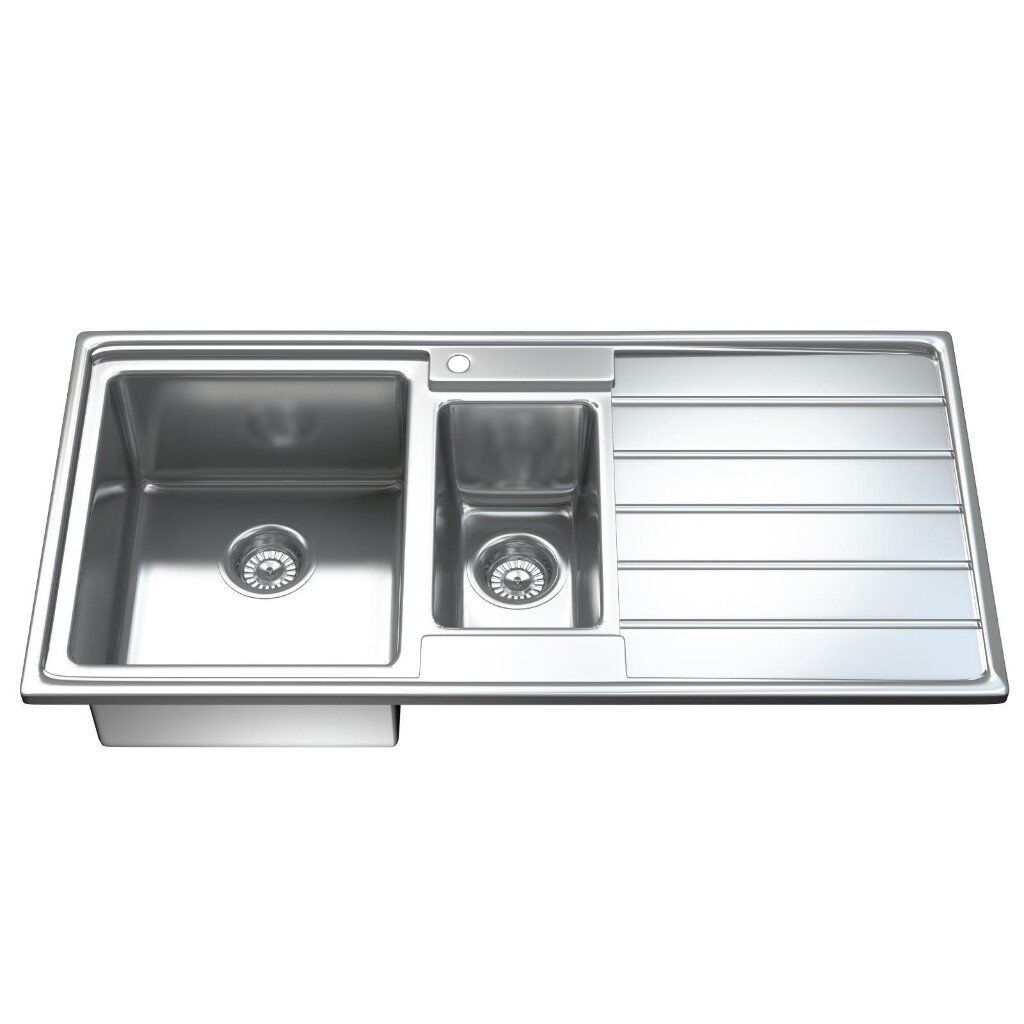 Brand new kitchen sink waste good quality stainless steel 1 5 bowl