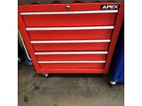 2 PROFESSIONAL MOTOR TECHNICIAN TOOL CABINETS COMPLETE WITH TOP BOX + £4K OF TOP QUALITY TOOLS