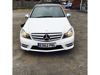 Mercedes C Class C220 Automatic White 2012 AMG pack