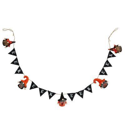 """EEK Halloween Gnome Witch 60"""" Felt Garland String Banner"""