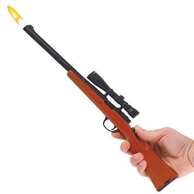 Gibson Bolt Action Rifle Refillable Butane Grill & BBQ Gun Lighter w/Scope