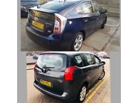 MPV & Toyota Prius PCO cars for Rent/Hire, 7 Seats XL, Ford Galaxy VW Sharan, Zafira.