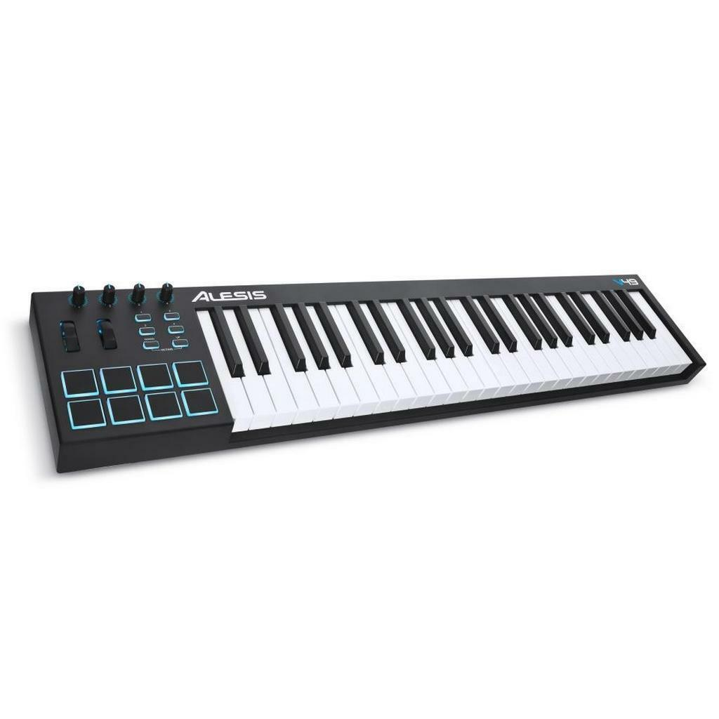 Alesis V49 | USB/MIDI Keyboard Controller | 49 Tasten + Drum Pads + Pitch Bend