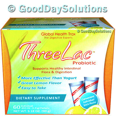 Threelac Candida Yeast Probiotic 3 Three Lac Global Health Trax Free Us Shipping
