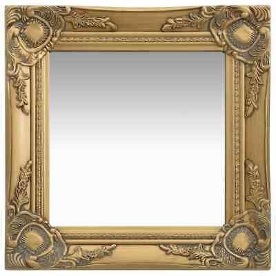 vidaXL Espejo de Pared Estilo Barroco Dorado Maquillaje Decoración Hogar Baño