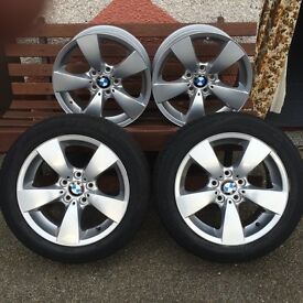 Newly refurbished BMW 525 alloys with new tyres