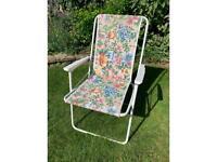Pretty floral folding deck chair