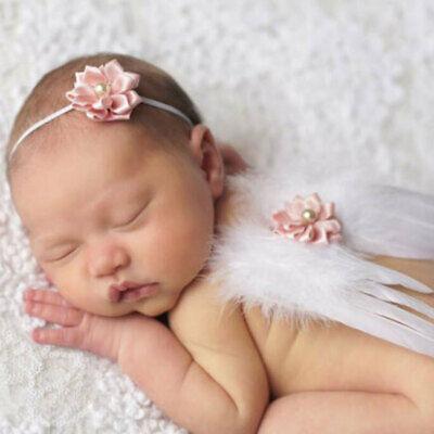 Säuglings-Baby-Kleinkind-Engels-Flügel-Kostüm Foto Fotografie Prop Outfit ()