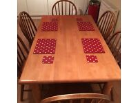 Farmhouse Style Dining Table with 6 Chairs