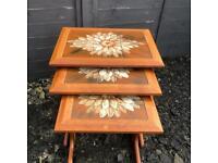 Set of 3 mid century tile top danish design nest of tables mobelfabrikken