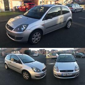2006 FORD FIESTA 1.2 STYLE 3 DOOR SILVER CHEAP CAR LOW MILES NEW MOT NO OFFERS BARGAIN