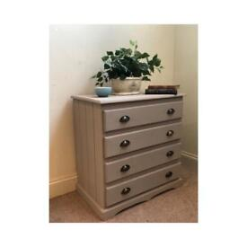 French linen solid chest of drawers (Delivery available)