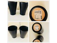 IKEA Plant pot black ***pair of two***