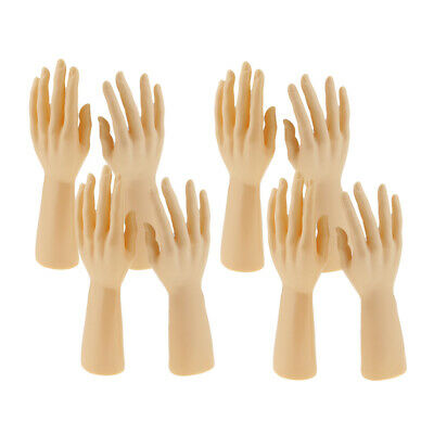 4 Pair Professional Male Mannequin Hand Human Hand Model Watch Rings Holder
