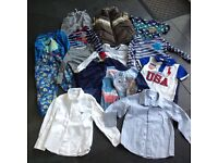 Clothes bundle age 3-4 years with Ralph Lauren PoloShirt, 2 designer shirts and a body warmer