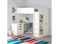Ikea Loft bed STUVA / FRITIDS Loft bed combo w 3 drawers/2 doors