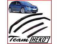 HEKO Wind Deflectors for Vw Volkswagen Golf mk7 2013 onwards 5 doors Hatchback