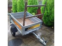 TRAILER ERDE 122 FULLY GALVANISED 4Ft x 3Ft TAILGATE - EXCELLENT CONDITION