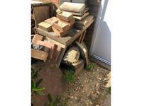Free paving slabs and bricks