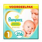 Pampers Premium Protection Maat 1 New Born - 2,5kg - 216...