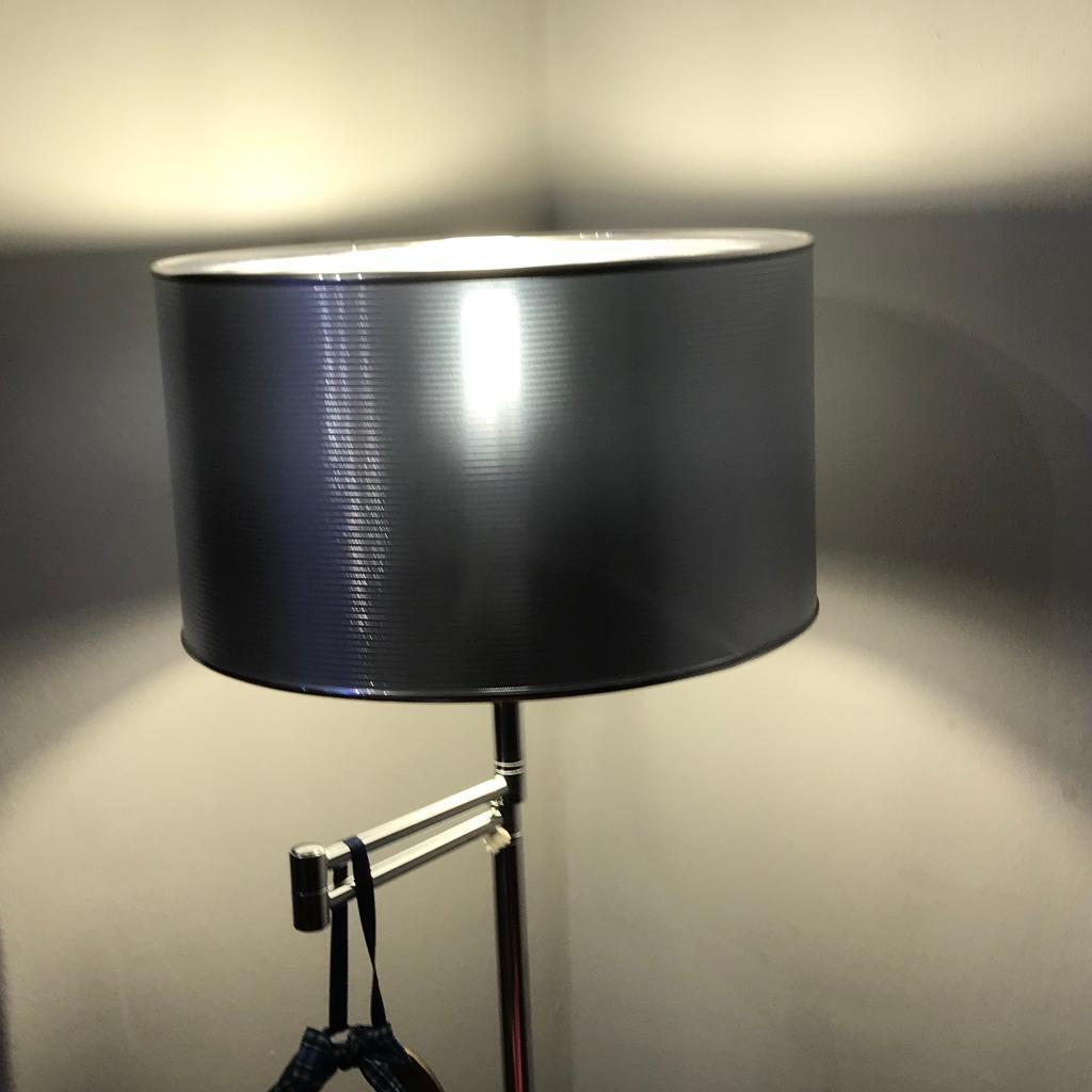 Silver lamp shades x2
