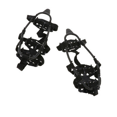 Pair Traction Cleats Ice Snow Grips with 24 Spikes Walking Jogging Climing