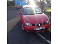 2006 Seat Ibiza 1.4 sport. good running car that would be ideal as a first car.