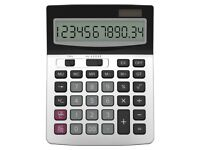 NEW: Calculator, Helect Business Standard Function Desktop Calculator - Silver
