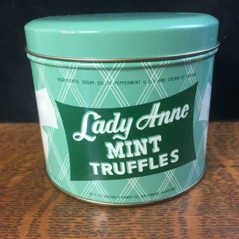 Lady Anne Mint Truffles Tin Baltimore Maryland Empty Candy Container Advertising