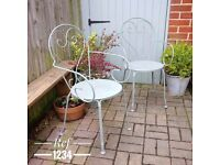 vintage garden chairs. patio chairs. painted garden chairs. bbq chairs. garden party (1234)