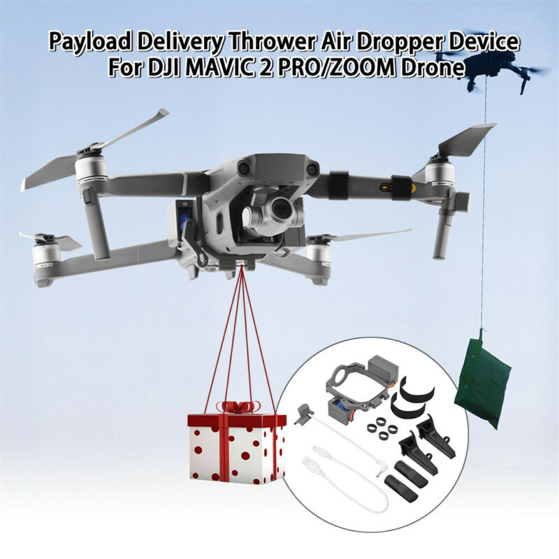 Payload-Delivery Thrower Air Dropper Device Mount For DJI MAVIC 2 PRO/ZOOM Drone - $50.51