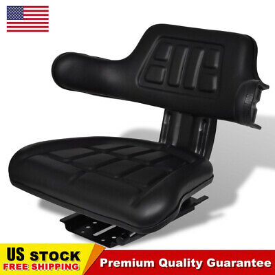 Steel Black Tractor Seat With Backrest Arm Rest Compact Garden Tractor Mower