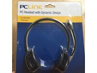 PCLine PCL-MH36 PC Headset with Dynamic Design Brand New