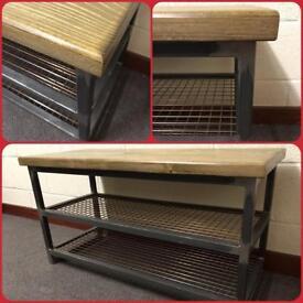 Tv stand/copper mesh/industrial/rustic/Reclaimed/Bespoke/Furniture/Home