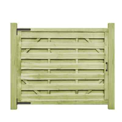 vidaXL 2x Garden Gates FSC Impregnated Pinewood 150x125cm Green Driveway Door