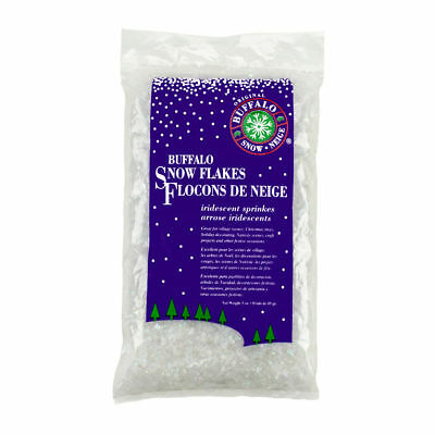 BUFFALO SNOW FLAKES 4.5 oz crafting tree decoration Christmas Holiday artificial