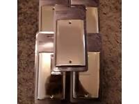 5X polished brass 2 gang blank plate