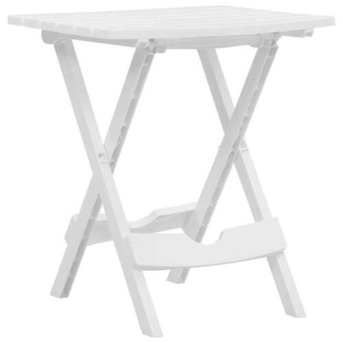 Garden Furniture - vidaXL Folding Garden Table White Garden Outdoor Foldable Table Furniture